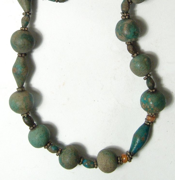 A choice Egyptian faience beaded necklace - 3