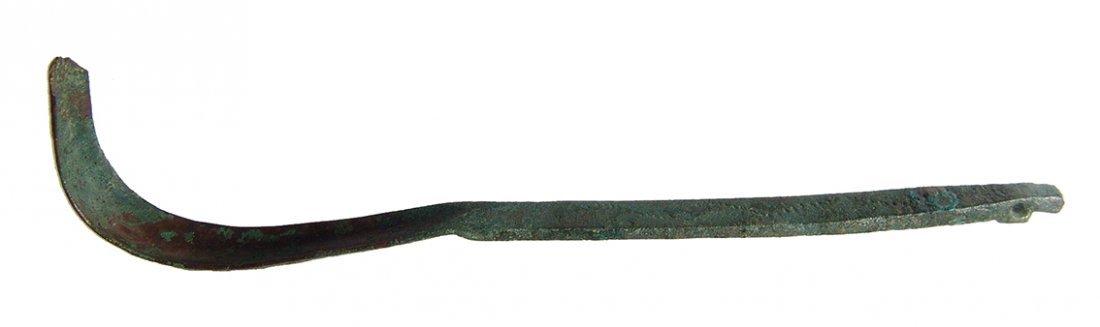 A nice Roman bronze strigil - 3