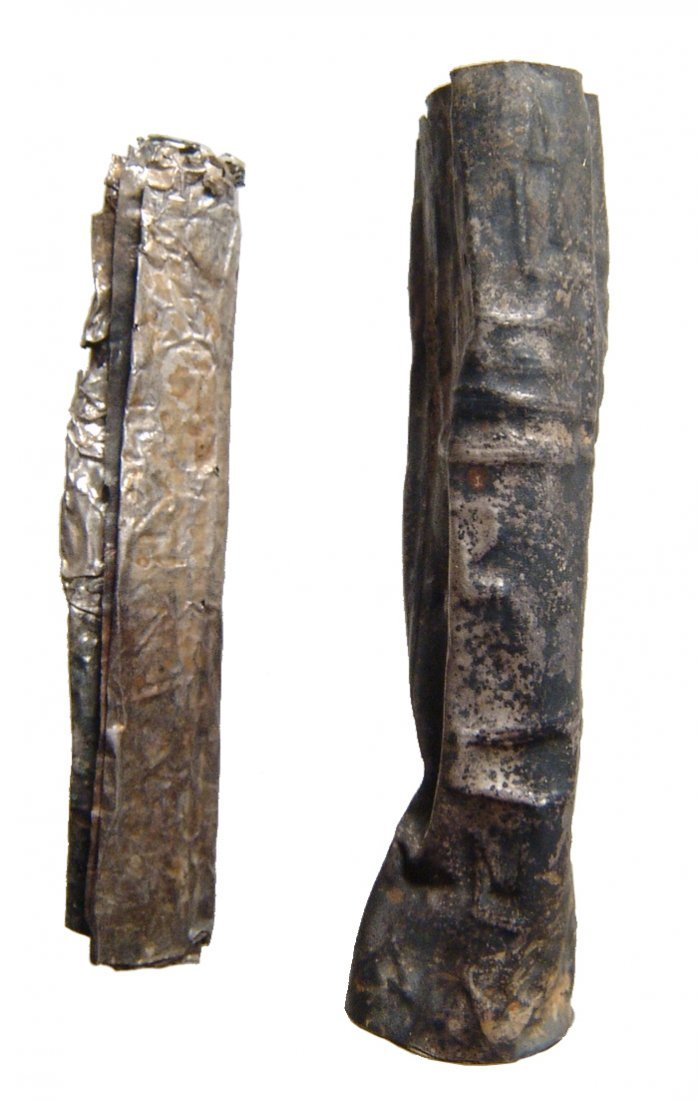 A silver Judean scroll with case - 2