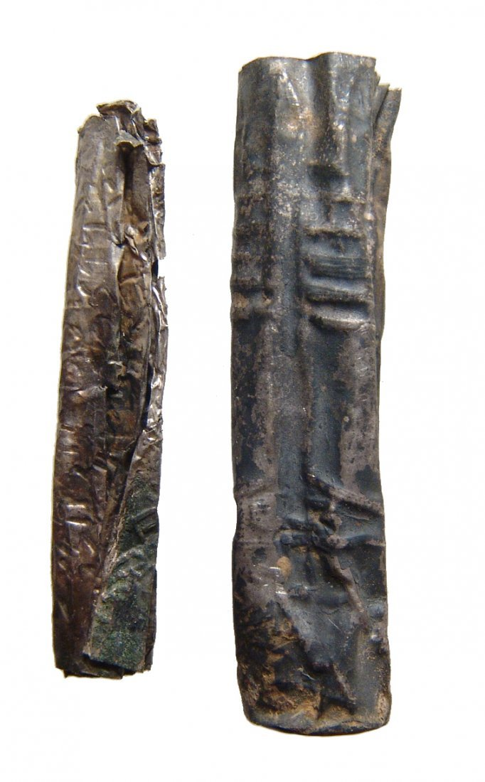 A silver Judean scroll with case - 3