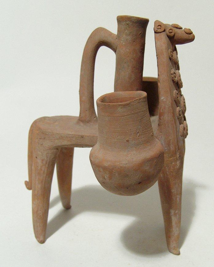 Near Eastern zoomorphic ceramic ritual vessel - 4