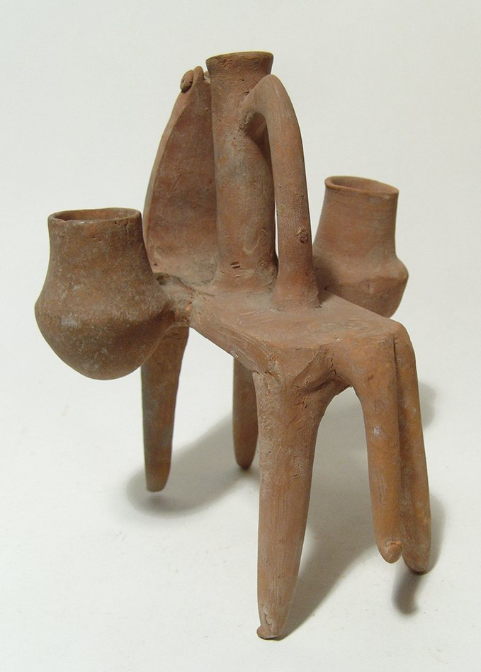 Near Eastern zoomorphic ceramic ritual vessel - 5