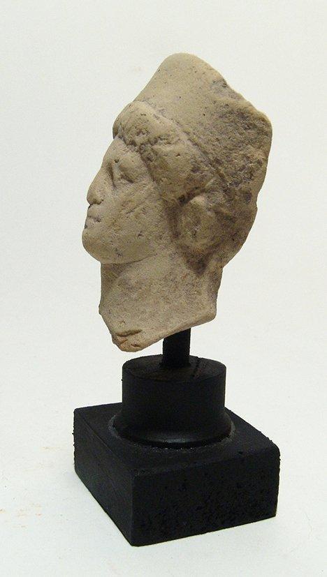 A Greek terracotta head of a goddess - 2