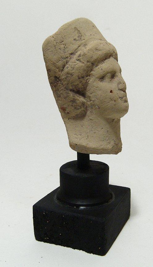 A Greek terracotta head of a goddess - 3