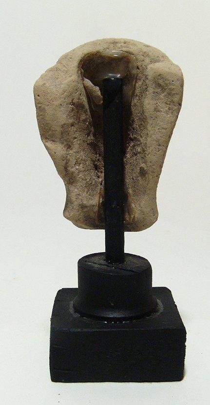 A Greek terracotta head of a goddess - 4