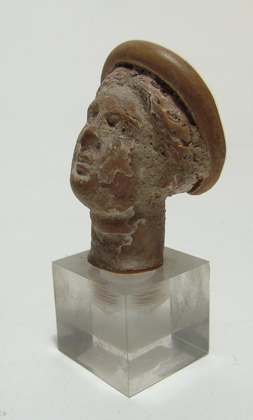 A Greek terracotta head of a woman - 2
