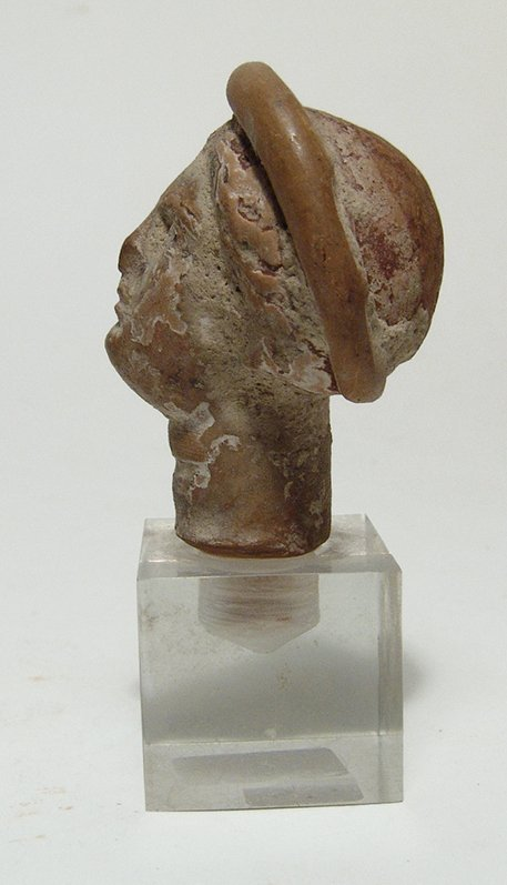 A Greek terracotta head of a woman - 4