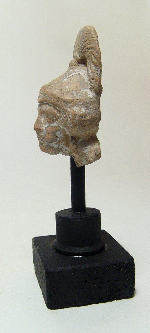A Greek terracotta head of an Amazon - 3