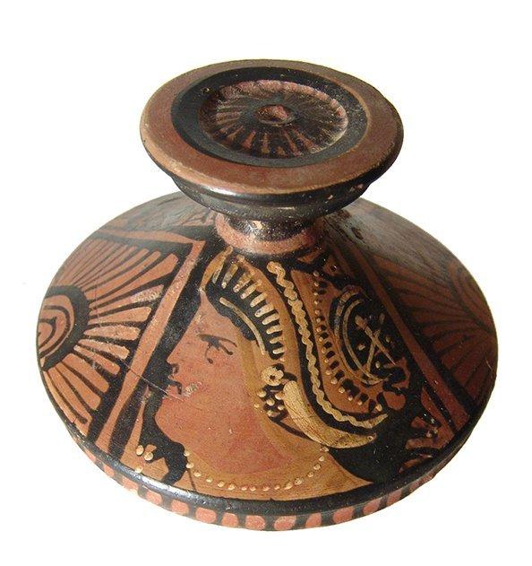 A charming Greek Apulian red-figure lekanis - 5