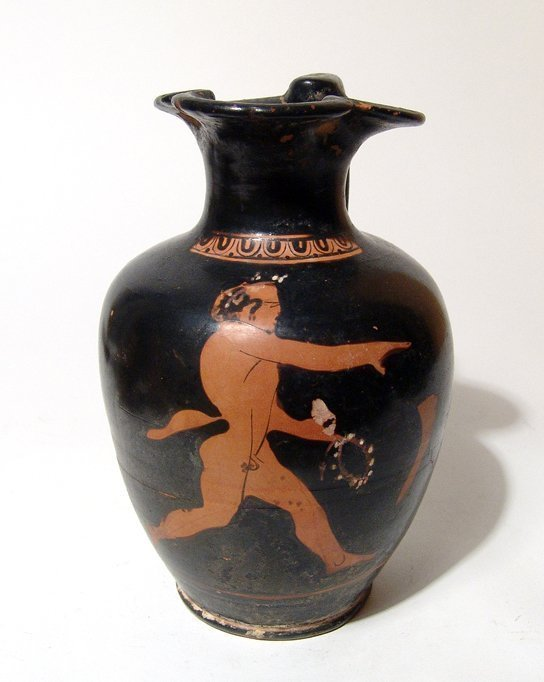 An Attic red-figure oinochoe depicting a satyr - 3