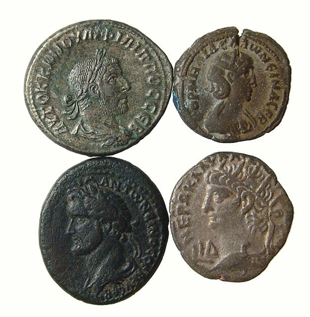 A lot of 4 nice Roman provincial coins