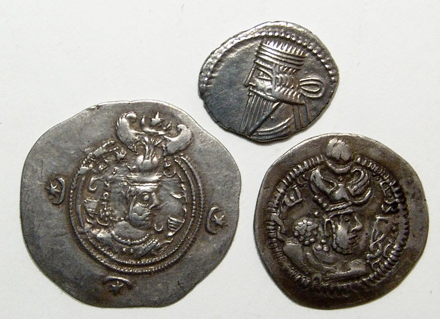 A lot of 3 silver Persian coins
