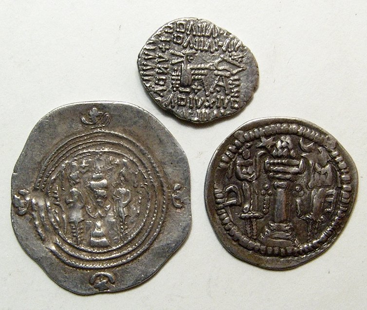 A lot of 3 silver Persian coins - 2