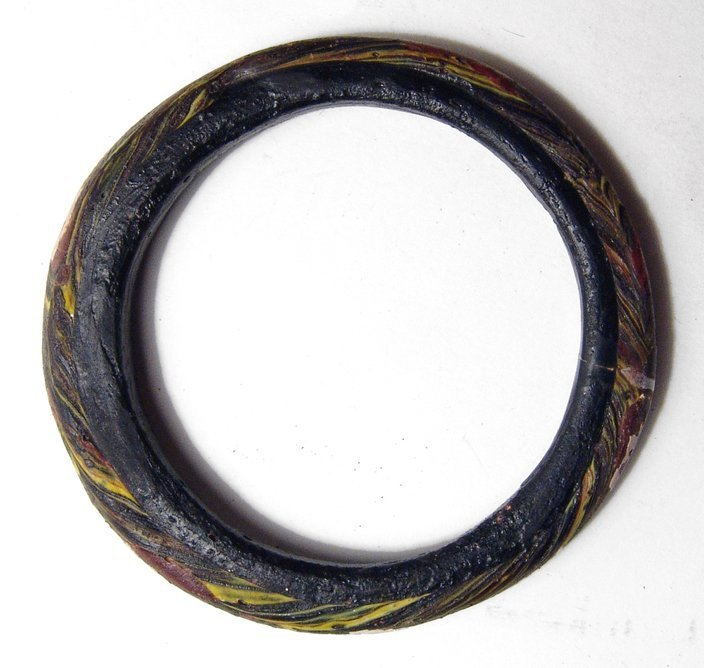 A nice multicolored Islamic glass bracelet - 2