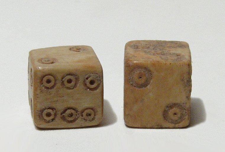 A pair of Roman bone dice