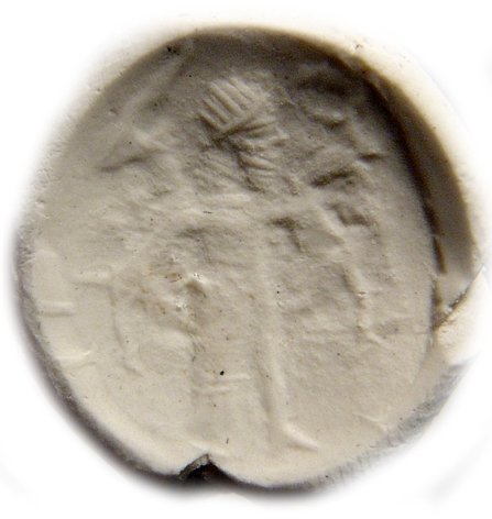 Neo-Assyrian creme chalcedony stamp seal - 4