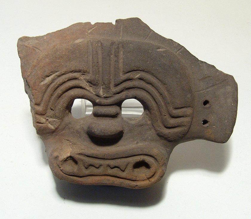 A handsome La Tolita/Tumaco ceramic mask