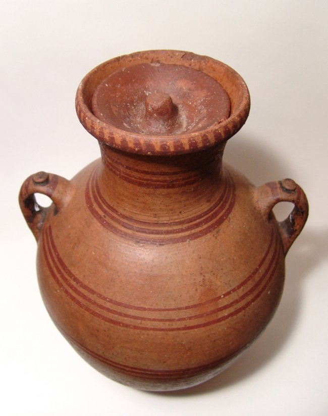 A large Hellenistic lidded amphora - 4