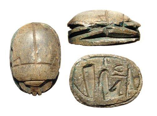 Egyptian steatite scarab. New Kingdom, Ramesside