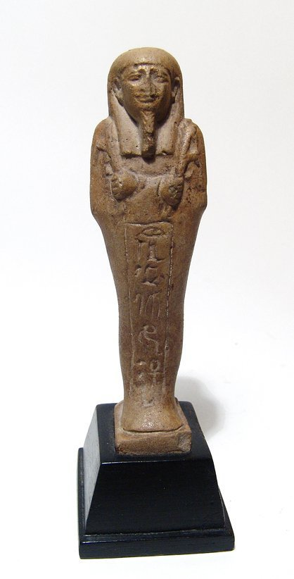 A nice Egyptian faience ushabti, Late Period