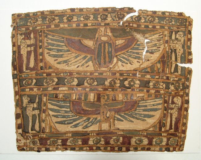 An Egyptian cartonnage panel, Late Period