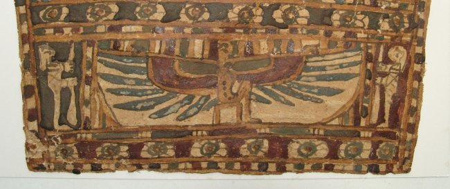An Egyptian cartonnage panel, Late Period - 2