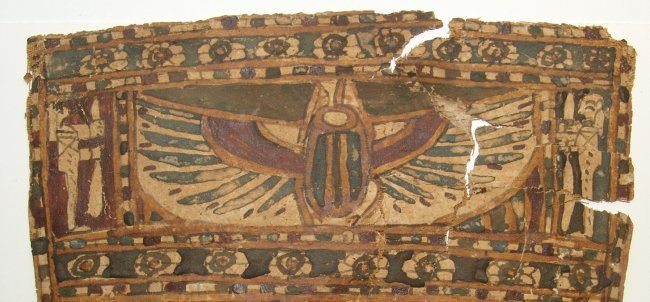 An Egyptian cartonnage panel, Late Period - 3