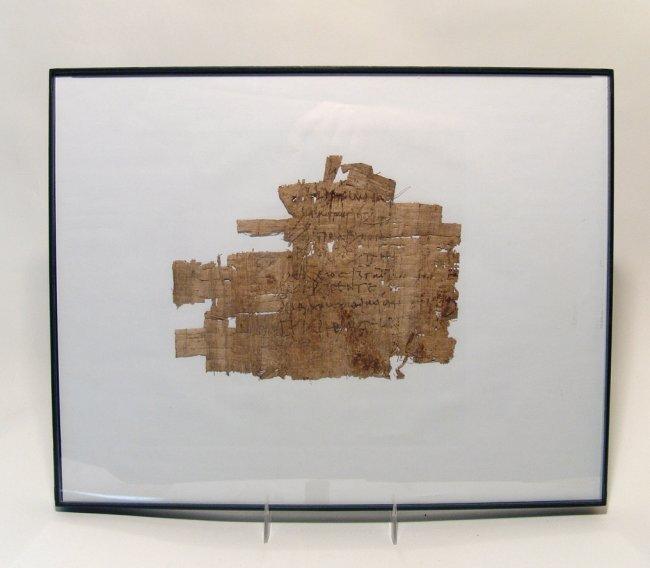 Greek document written on papyrus in cursive - 2