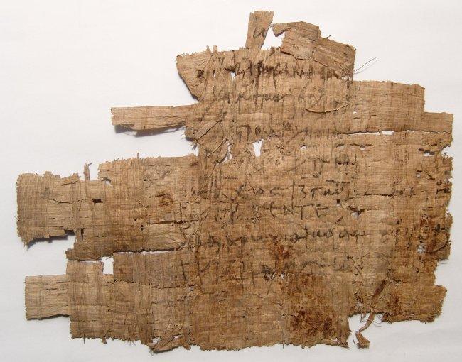 Greek document written on papyrus in cursive - 3