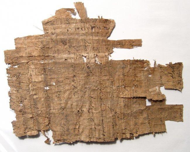 Greek document written on papyrus in cursive - 4