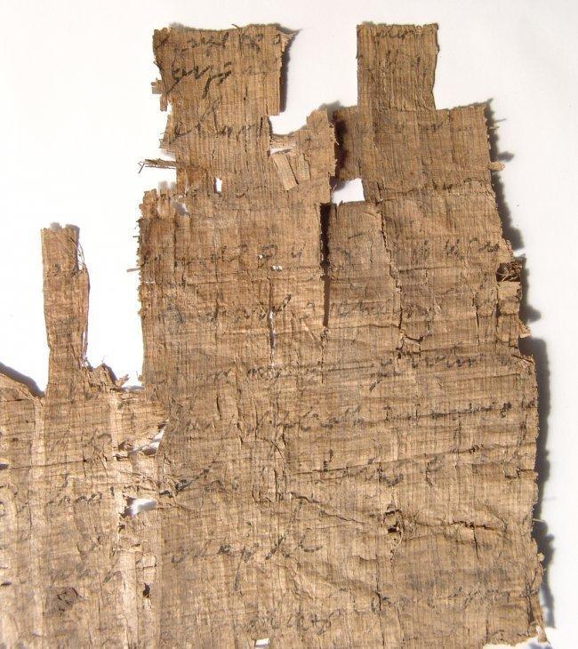 Greek document written on papyrus in cursive - 5