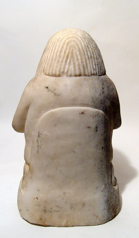 A Sabaean marble sculpture of a kneeling male - 6