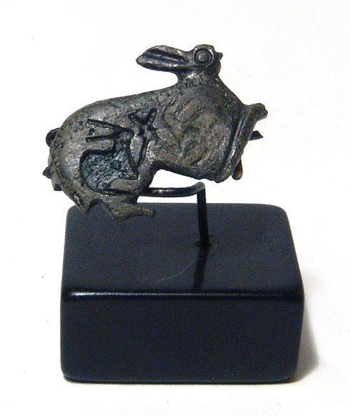 Gallo-Roman bronze brooch in form of hare