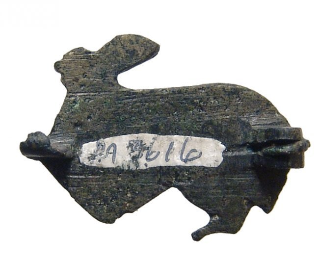 Gallo-Roman bronze brooch in form of hare - 3