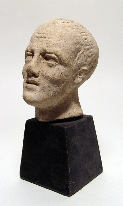 Etruscan/Roman terracotta head of a man