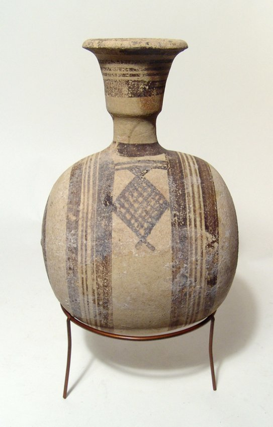 A decorative Cypriot bichrome canteen