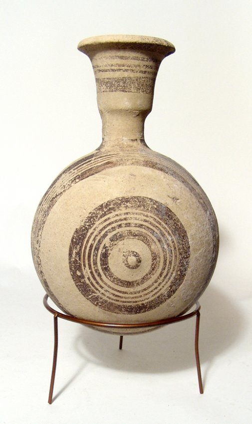 A decorative Cypriot bichrome canteen - 4