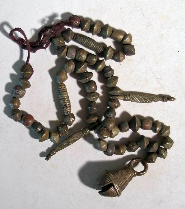 A superb bronze necklace from Nigeria