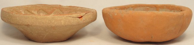 A pair of 2 Indian terracotta bowl molds - 2