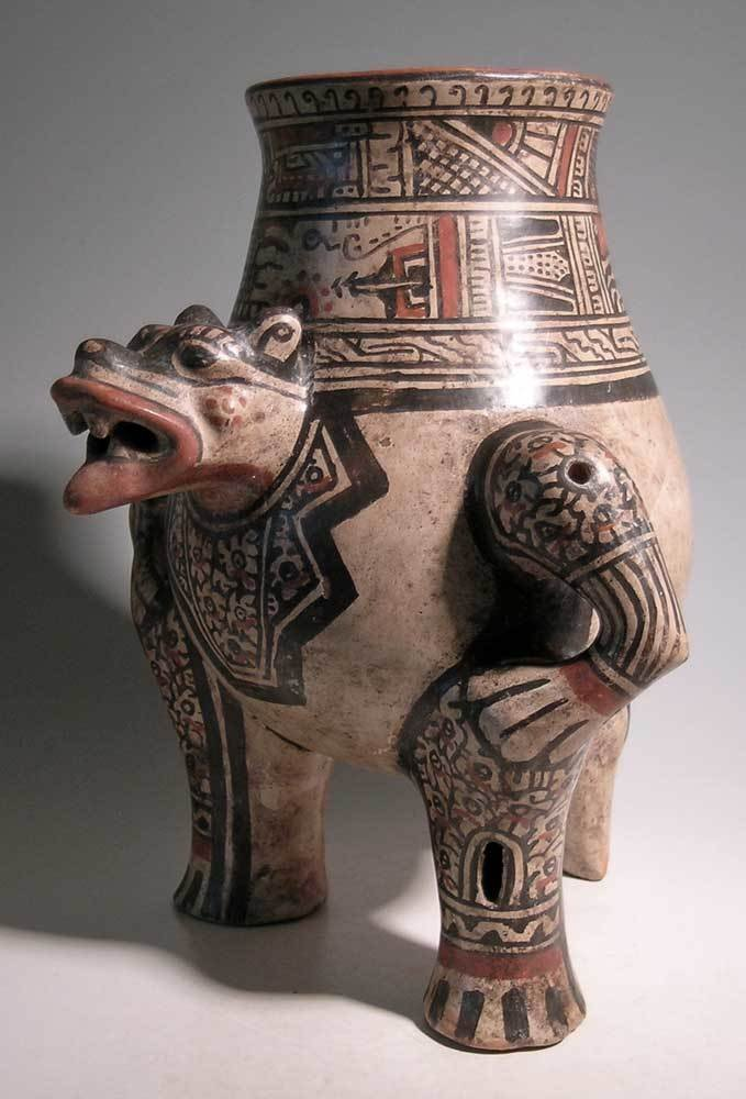 Excellent Nicoya Jaguar urn from Costa Rica - 4