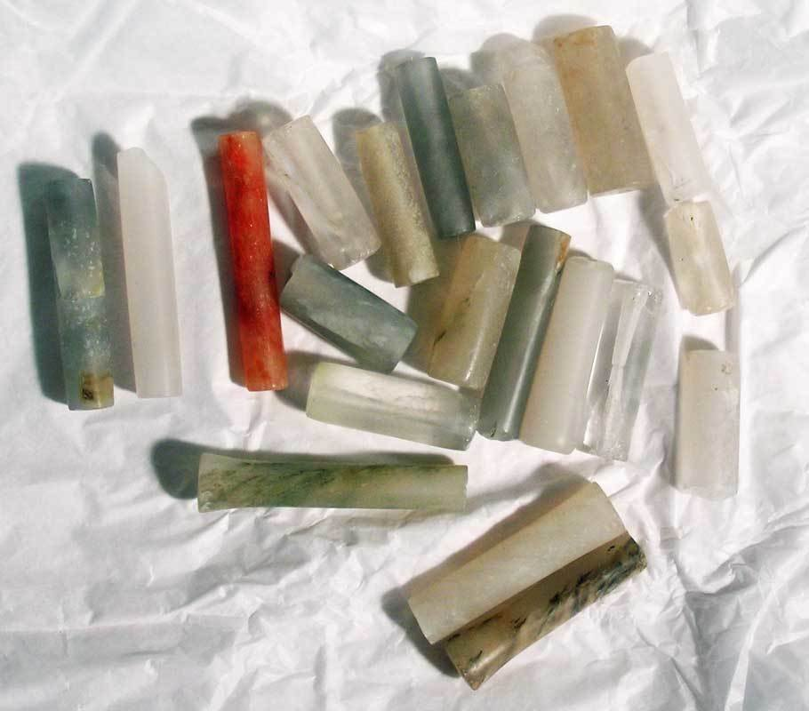 A bag of excellent Calima crystal beads
