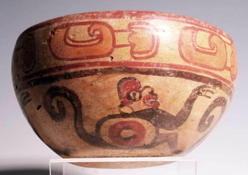 Excellent Maya polychrome bowl from El Salvador - 2