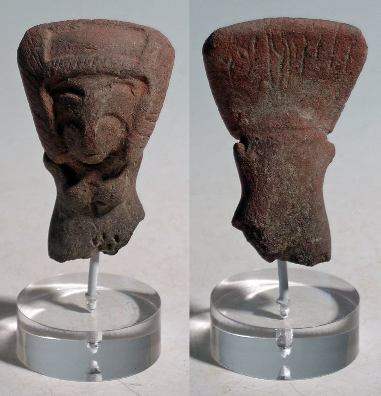 Pair of excellent Valdivia busts from Ecuador - 3