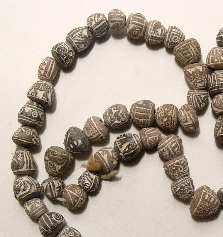 A strand of Pre-Columbian terracotta beads, Ecuador - 2