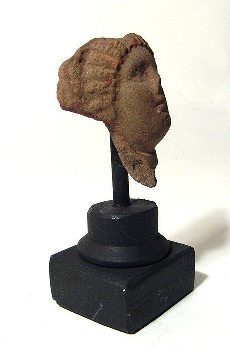 A Greek terracotta head of a lady - 2