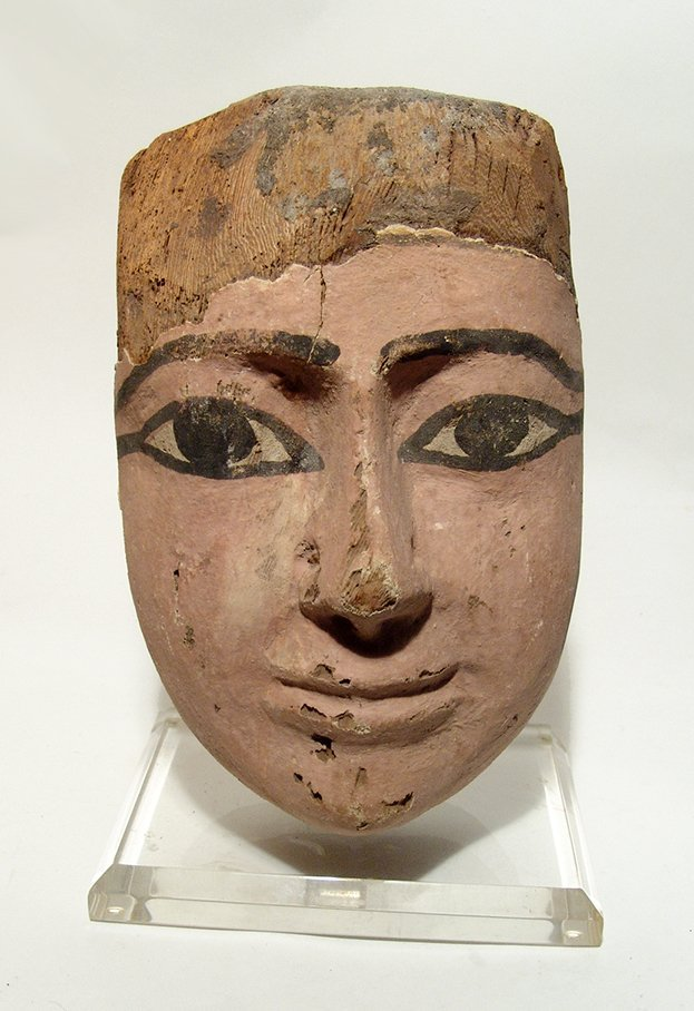 A large and attractive Egyptian wooden mask