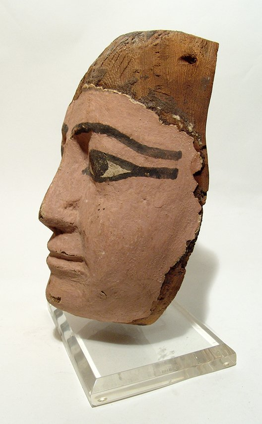 A large and attractive Egyptian wooden mask - 2