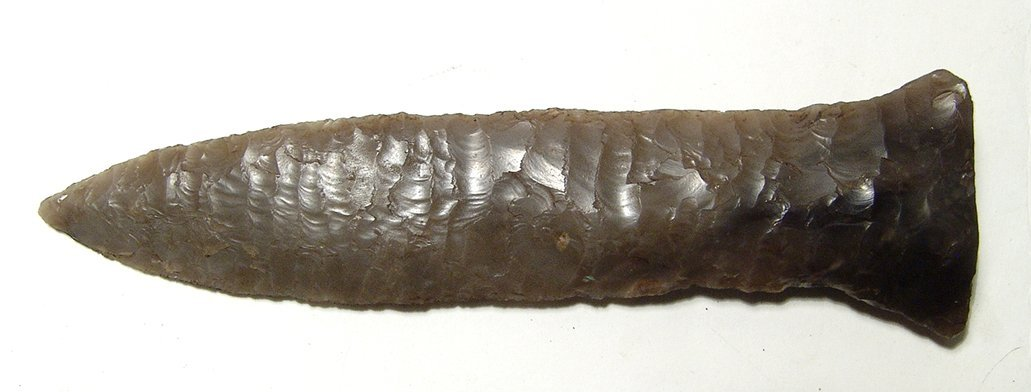 A beautifully carved Danish spear point - 2