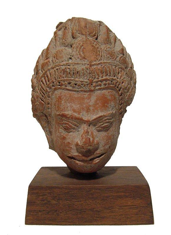 A Siamese terracotta head of Buddha