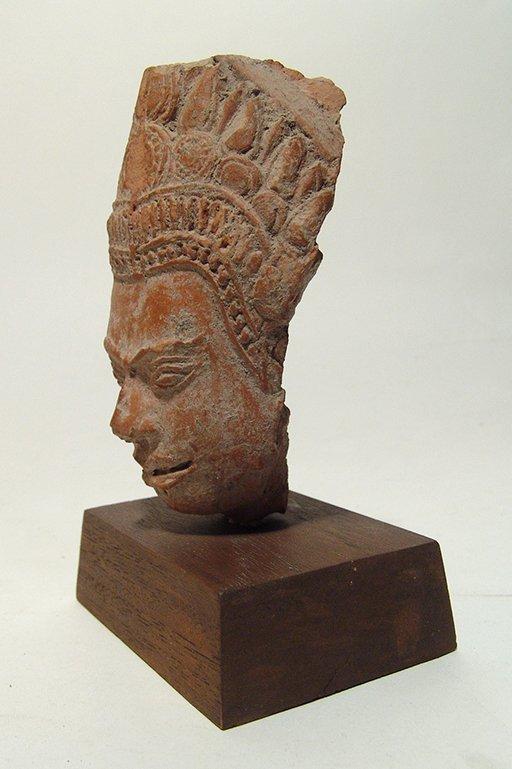 A Siamese terracotta head of Buddha - 2